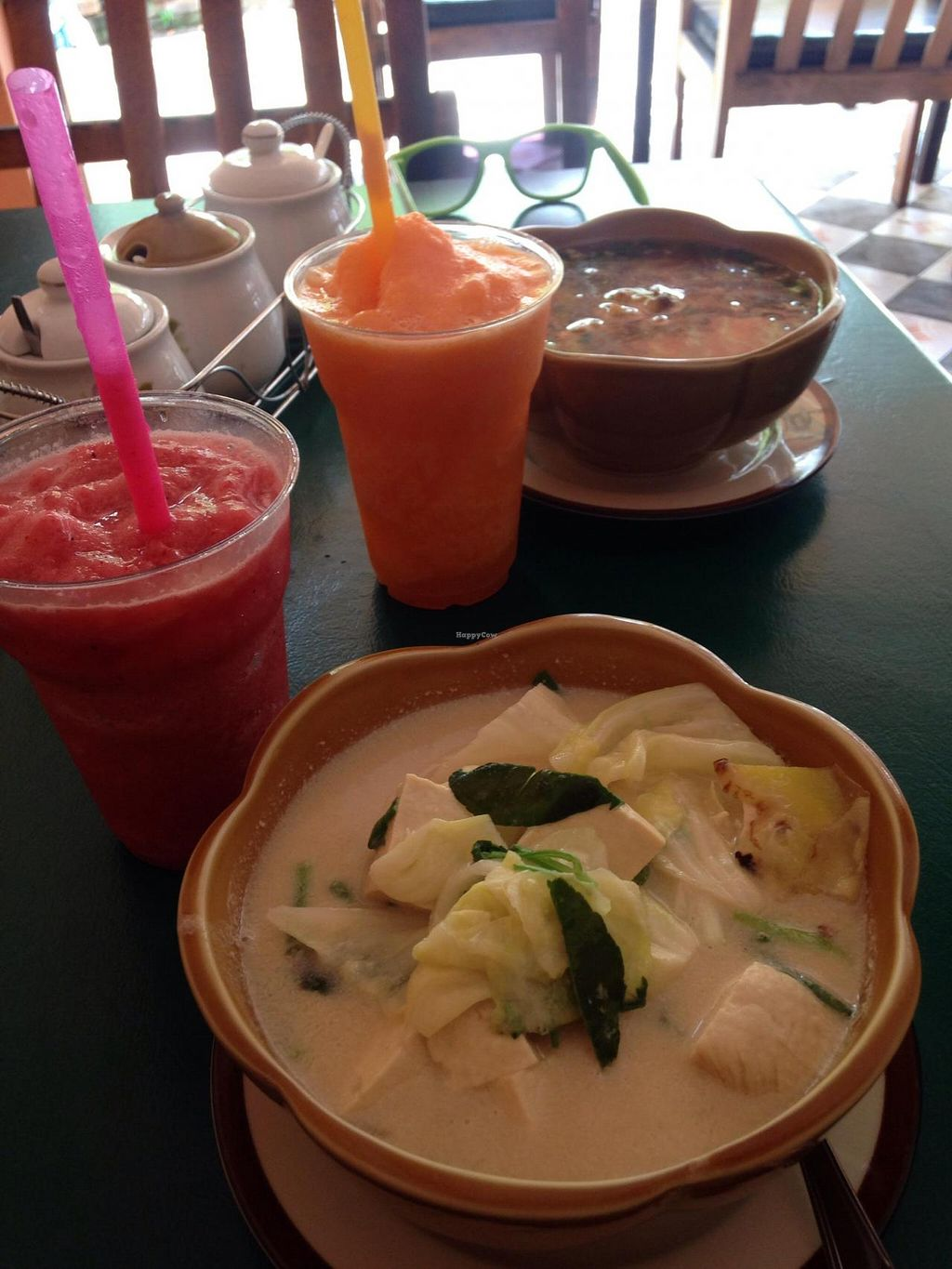 """Photo of Apple  by <a href=""""/members/profile/Amberisavegan"""">Amberisavegan</a> <br/>Tom Kha with Tofu and #11 smoothie  <br/> April 22, 2015  - <a href='/contact/abuse/image/52389/99894'>Report</a>"""