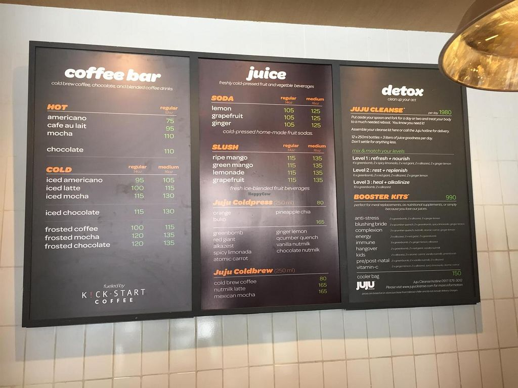 """Photo of Juju Eats  by <a href=""""/members/profile/CharlesS"""">CharlesS</a> <br/>Juice Menu <br/> November 3, 2014  - <a href='/contact/abuse/image/52417/84464'>Report</a>"""