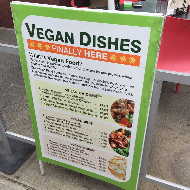 """Photo of Taste of China  by <a href=""""/members/profile/BriggitteJ"""">BriggitteJ</a> <br/>vegan menu out front <br/> September 29, 2016  - <a href='/contact/abuse/image/52440/178529'>Report</a>"""