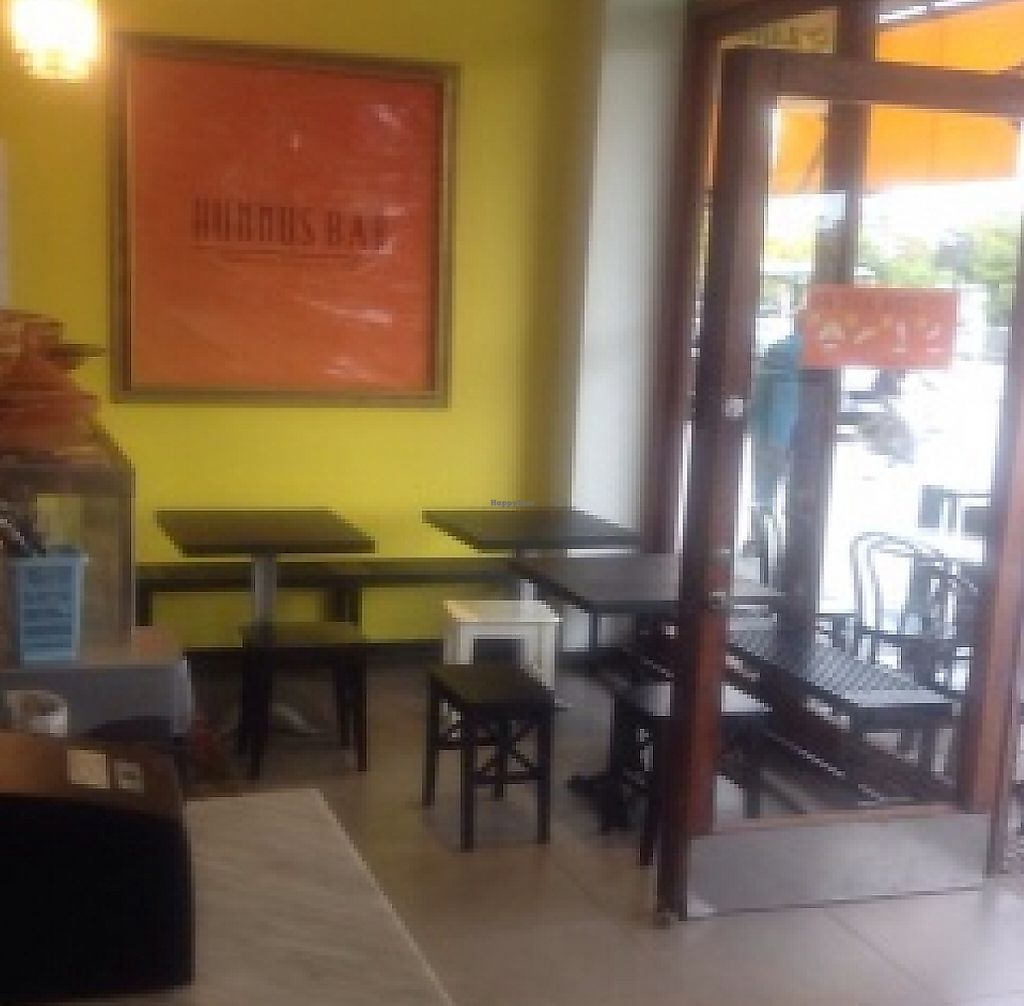 """Photo of Hummus Bar  by <a href=""""/members/profile/Anakteros"""">Anakteros</a> <br/>indoors <br/> September 28, 2015  - <a href='/contact/abuse/image/52462/244141'>Report</a>"""