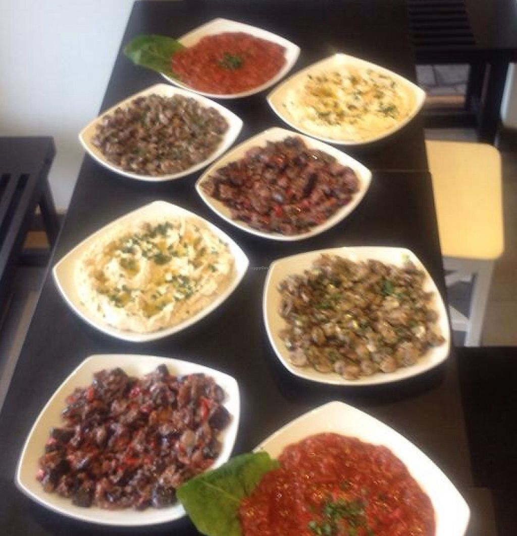 """Photo of Hummus Bar  by <a href=""""/members/profile/Anakteros"""">Anakteros</a> <br/>different plates <br/> September 28, 2015  - <a href='/contact/abuse/image/52462/244143'>Report</a>"""