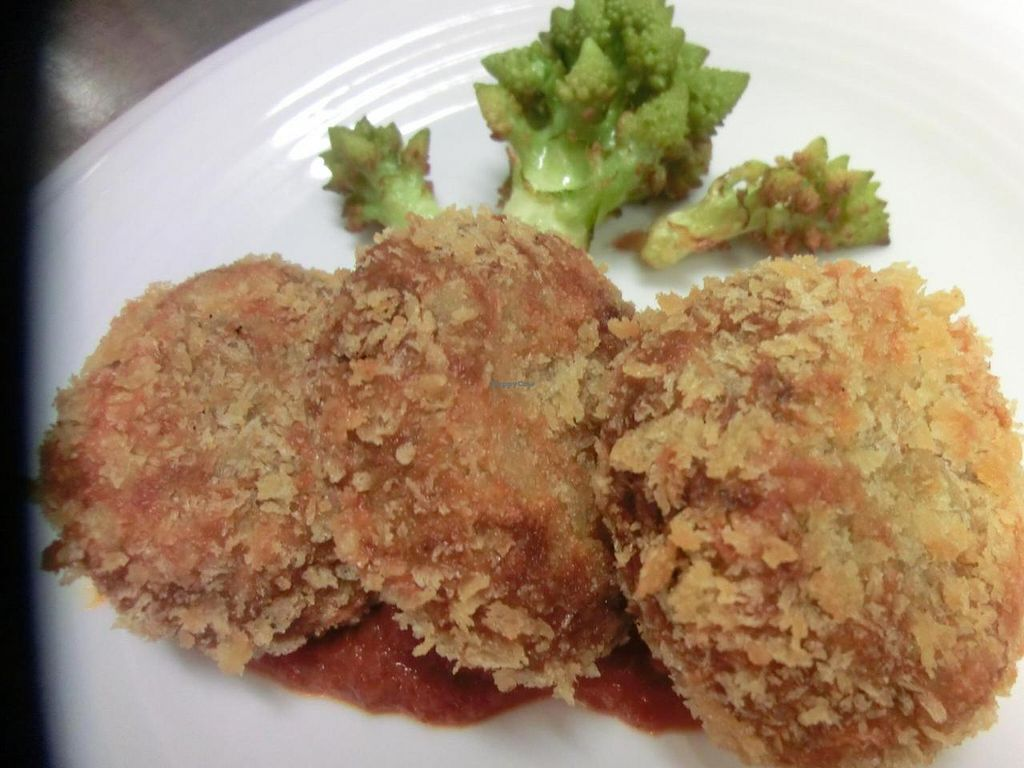 "Photo of CLOSED: Coco Genki  by <a href=""/members/profile/COCO%20GENKI"">COCO GENKI</a> <br/>Vegan pumpkin croquette with tomato source and fried romanesco  <br/> November 5, 2014  - <a href='/contact/abuse/image/52464/84769'>Report</a>"