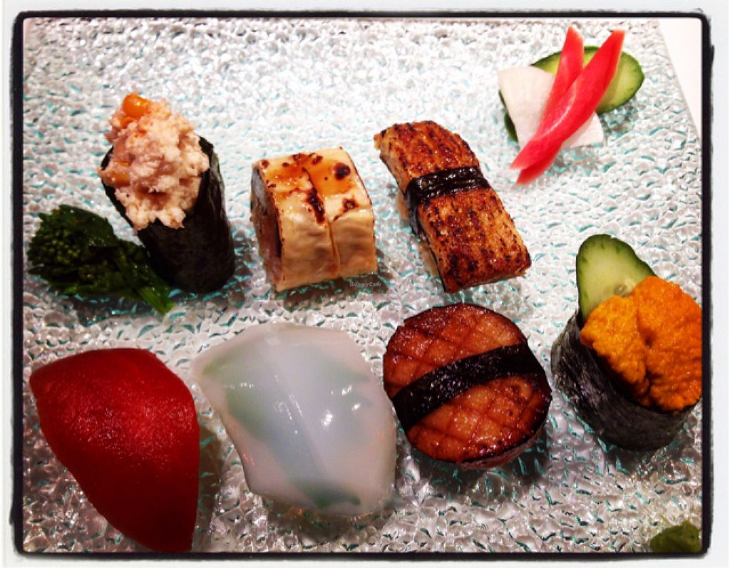 """Photo of Little-Heaven  by <a href=""""/members/profile/happycyclist"""">happycyclist</a> <br/>Christmas course #7 out of this world vegan sushi!!! <br/> December 24, 2015  - <a href='/contact/abuse/image/52487/129669'>Report</a>"""
