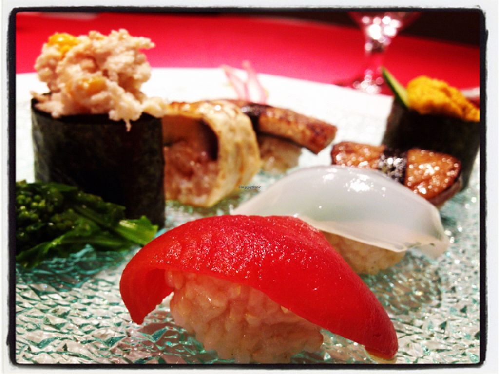 """Photo of Little-Heaven  by <a href=""""/members/profile/happycyclist"""">happycyclist</a> <br/>vegan sushi <br/> December 24, 2015  - <a href='/contact/abuse/image/52487/129670'>Report</a>"""