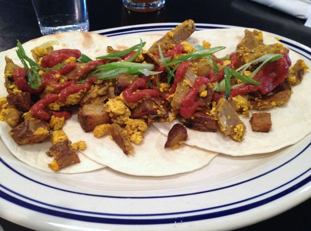 Photo of Palomino Bar  by RamblingVegans <br/>Vegan pork tacos.  These are really good with some vegan ranch!  <br/> March 2, 2014  - <a href='/contact/abuse/image/5248/65159'>Report</a>