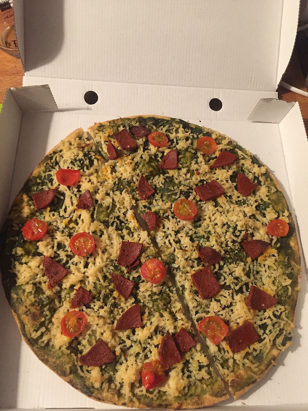 """Photo of Dolce Pizza y Los Veganos - Hipolit Lazaro  by <a href=""""/members/profile/Jameskille"""">Jameskille</a> <br/>Pesto pizza <br/> September 5, 2017  - <a href='/contact/abuse/image/52506/301297'>Report</a>"""