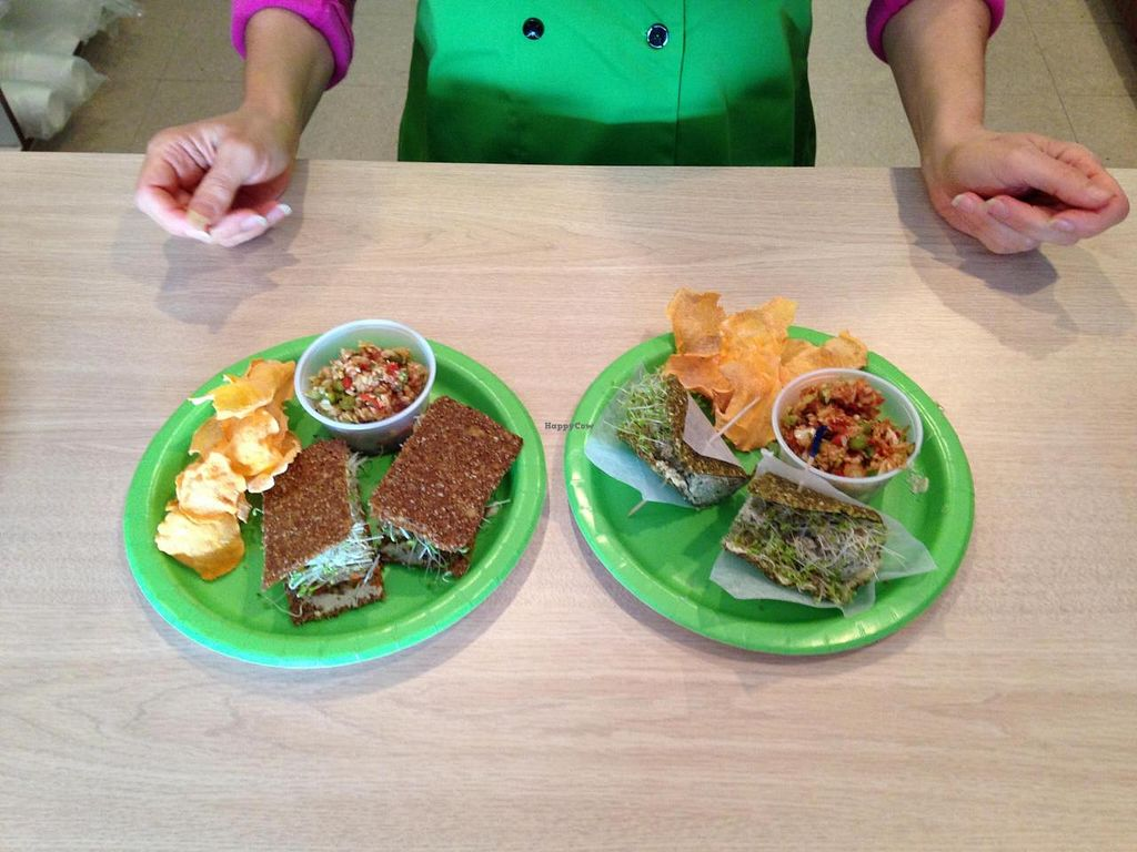 "Photo of CLOSED: Healing Meals  by <a href=""/members/profile/hightpi"">hightpi</a> <br/>'Tuna' Salad sandwich and Burger <br/> October 25, 2014  - <a href='/contact/abuse/image/52519/83857'>Report</a>"