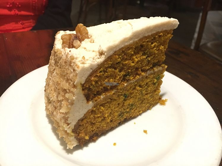 """Photo of Tillie Gort's Cafe  by <a href=""""/members/profile/CatLovesBeets"""">CatLovesBeets</a> <br/>delicious vegan carrot cake <br/> September 25, 2016  - <a href='/contact/abuse/image/5253/177890'>Report</a>"""