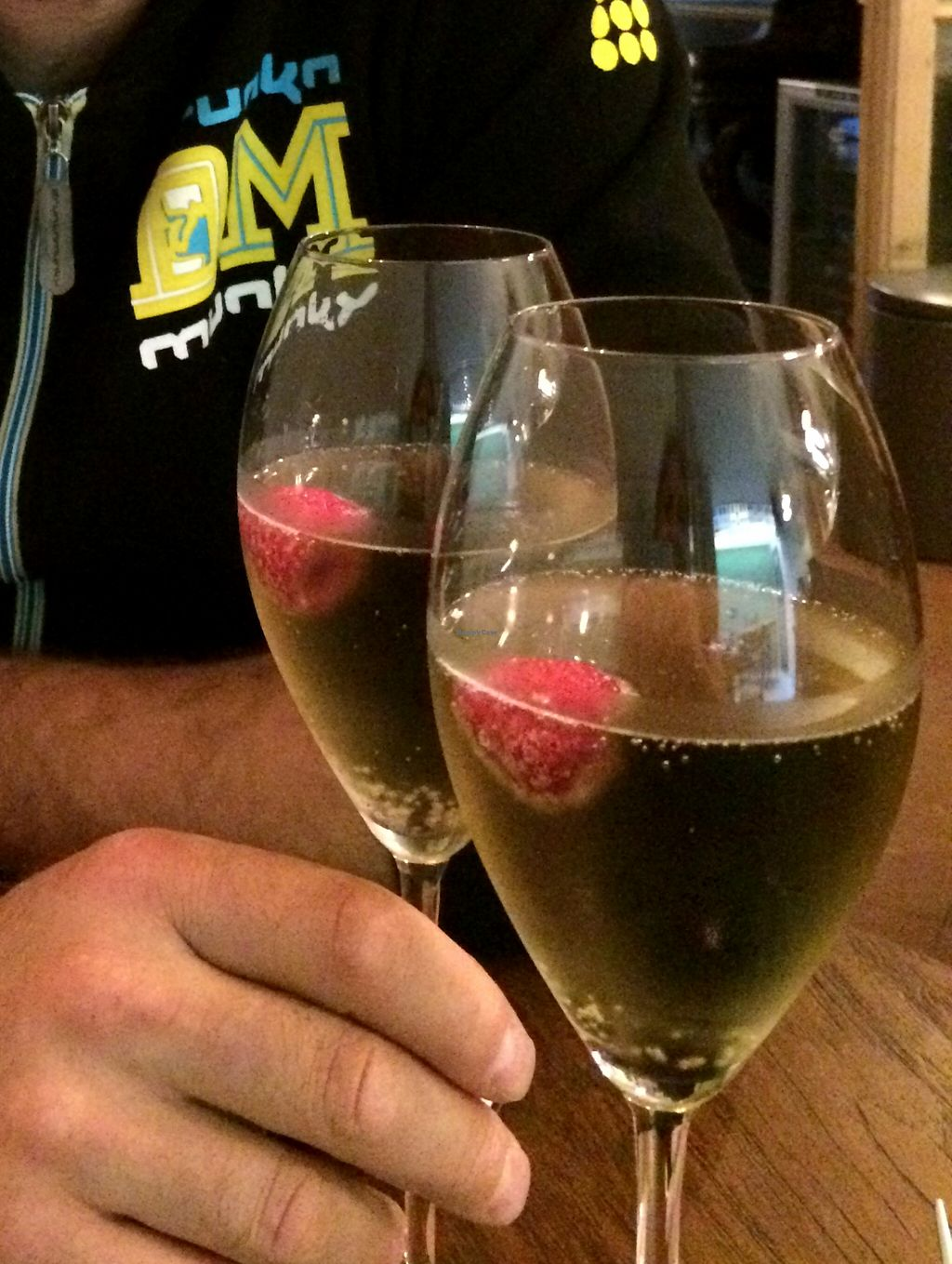 """Photo of Bites and Wines  by <a href=""""/members/profile/LisaCupcake"""">LisaCupcake</a> <br/>Lavender-infused sparkling wine with a raspberry <br/> October 9, 2015  - <a href='/contact/abuse/image/52562/120677'>Report</a>"""