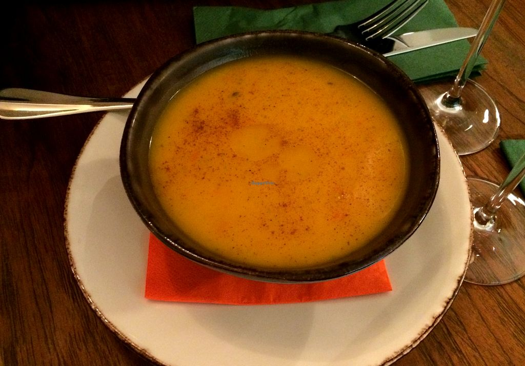 """Photo of Bites and Wines  by <a href=""""/members/profile/LisaCupcake"""">LisaCupcake</a> <br/>Spicy pumpkin soup <br/> October 9, 2015  - <a href='/contact/abuse/image/52562/120678'>Report</a>"""