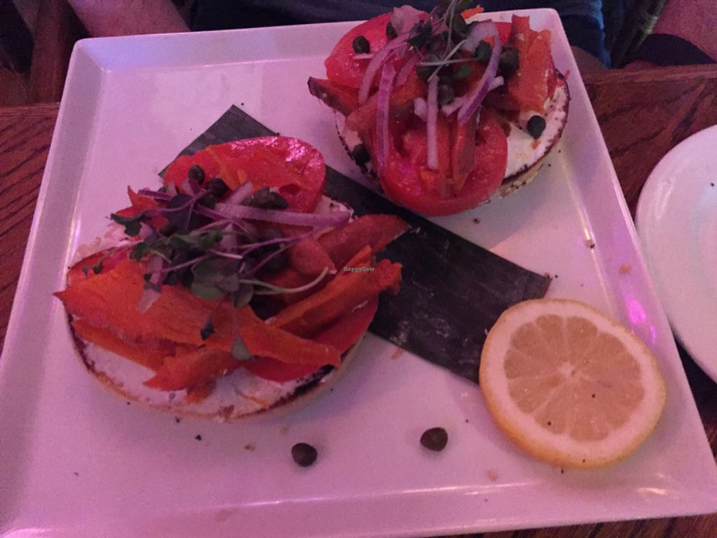 """Photo of CLOSED: No Bones About It - Food Truck  by <a href=""""/members/profile/vegan%20jeanne"""">vegan jeanne</a> <br/>Vegan Lox <br/> February 21, 2016  - <a href='/contact/abuse/image/52569/137192'>Report</a>"""