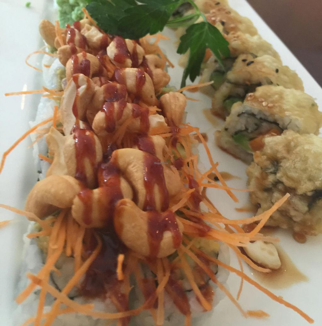 "Photo of Sushiko  by <a href=""/members/profile/VeganskisLove"">VeganskisLove</a> <br/>delish!!!!! vegan rolls! <br/> May 6, 2015  - <a href='/contact/abuse/image/52587/101428'>Report</a>"