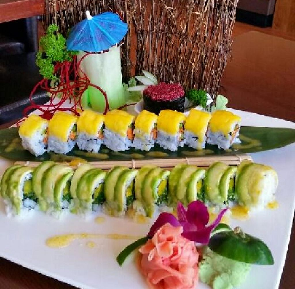 "Photo of Sushiko  by <a href=""/members/profile/JessinJax"">JessinJax</a> <br/>Beautiful presentation of vegan rolls from Sushiko <br/> November 7, 2014  - <a href='/contact/abuse/image/52587/196168'>Report</a>"