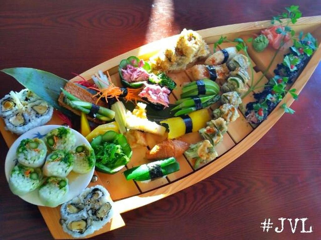 "Photo of Sushiko  by <a href=""/members/profile/JessinJax"">JessinJax</a> <br/>Vegan Sushi Boat from Sushiko <br/> November 7, 2014  - <a href='/contact/abuse/image/52587/84952'>Report</a>"