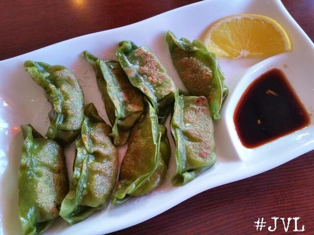 "Photo of Sushiko  by <a href=""/members/profile/JessinJax"">JessinJax</a> <br/>Vegan Goyza (pan fried dumpling - soy free, just rice noodles and veggies) <br/> December 10, 2014  - <a href='/contact/abuse/image/52587/87631'>Report</a>"