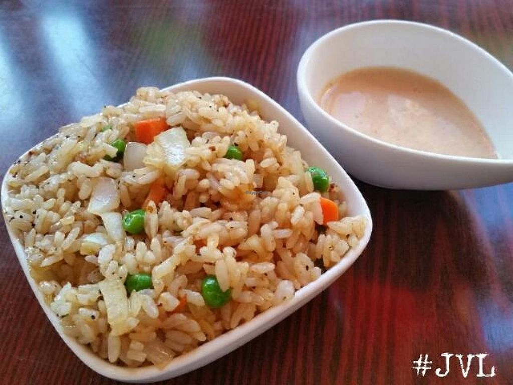 "Photo of Sushiko  by <a href=""/members/profile/JessinJax"">JessinJax</a> <br/>Fried rice (tell them no egg) with vegan shrimp sauce made with Hampton Creek Just Mayo)  <br/> December 10, 2014  - <a href='/contact/abuse/image/52587/87633'>Report</a>"