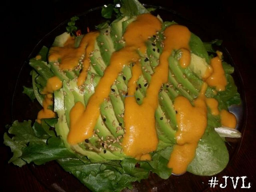 "Photo of Sushiko  by <a href=""/members/profile/JessinJax"">JessinJax</a> <br/>Avacado Salad with Vegan Ginger Dressing <br/> December 10, 2014  - <a href='/contact/abuse/image/52587/87636'>Report</a>"