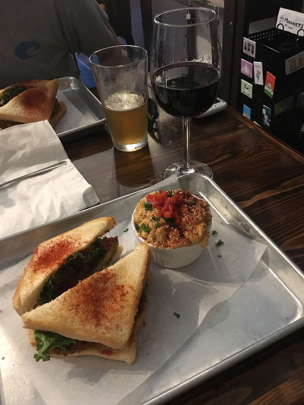 """Photo of Dixie Dharma - Market on South  by <a href=""""/members/profile/kaelashai"""">kaelashai</a> <br/>Florida Fried Green Tomato & Mac n' Cheese <br/> October 14, 2017  - <a href='/contact/abuse/image/52602/314936'>Report</a>"""