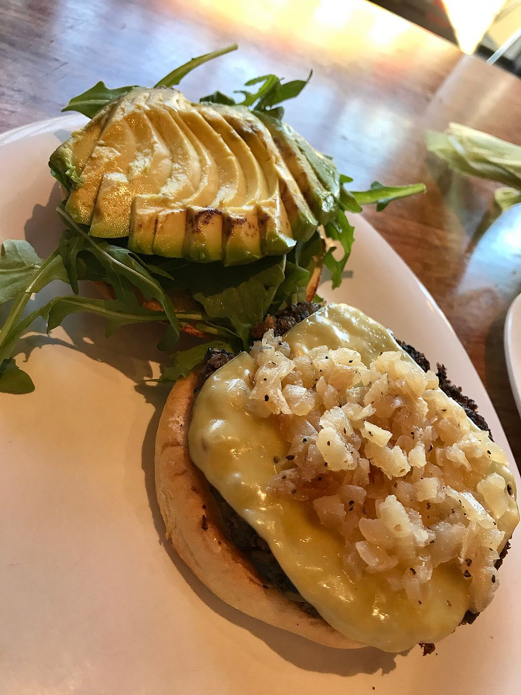 "Photo of Veggie Grill - Tustin Marketplace  by <a href=""/members/profile/ashleychamp"">ashleychamp</a> <br/>Quinoa & Veg burger with grilled onions instead of pickled, add avocado ?? <br/> July 1, 2017  - <a href='/contact/abuse/image/52614/275373'>Report</a>"