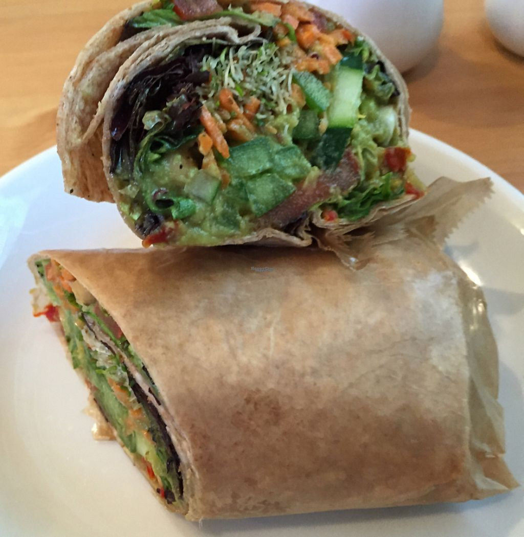 """Photo of Green Cup Cafe  by <a href=""""/members/profile/Shanaynay85"""">Shanaynay85</a> <br/>veggie wrap <br/> October 1, 2016  - <a href='/contact/abuse/image/52621/195612'>Report</a>"""