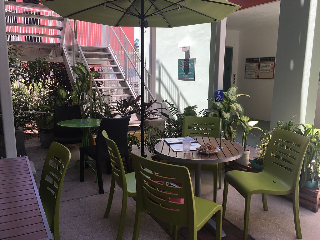 """Photo of Green Cup Cafe  by <a href=""""/members/profile/EBercaw"""">EBercaw</a> <br/>Cool, comfortable, green outdoor area <br/> April 15, 2018  - <a href='/contact/abuse/image/52621/386363'>Report</a>"""
