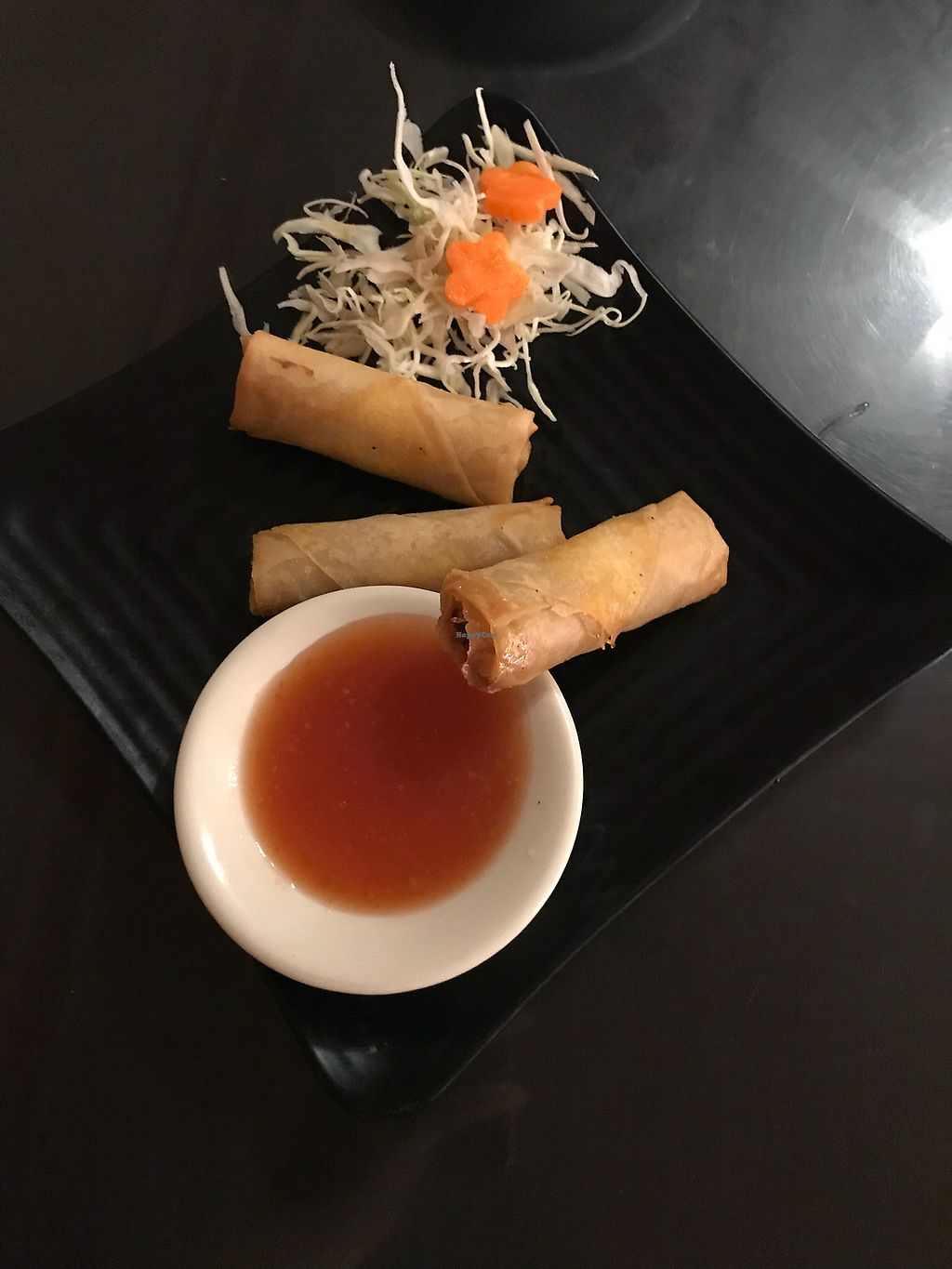 """Photo of Kati Thai Cuisine  by <a href=""""/members/profile/skipperkt"""">skipperkt</a> <br/>Vegan spring rolls <br/> March 31, 2018  - <a href='/contact/abuse/image/52641/378849'>Report</a>"""