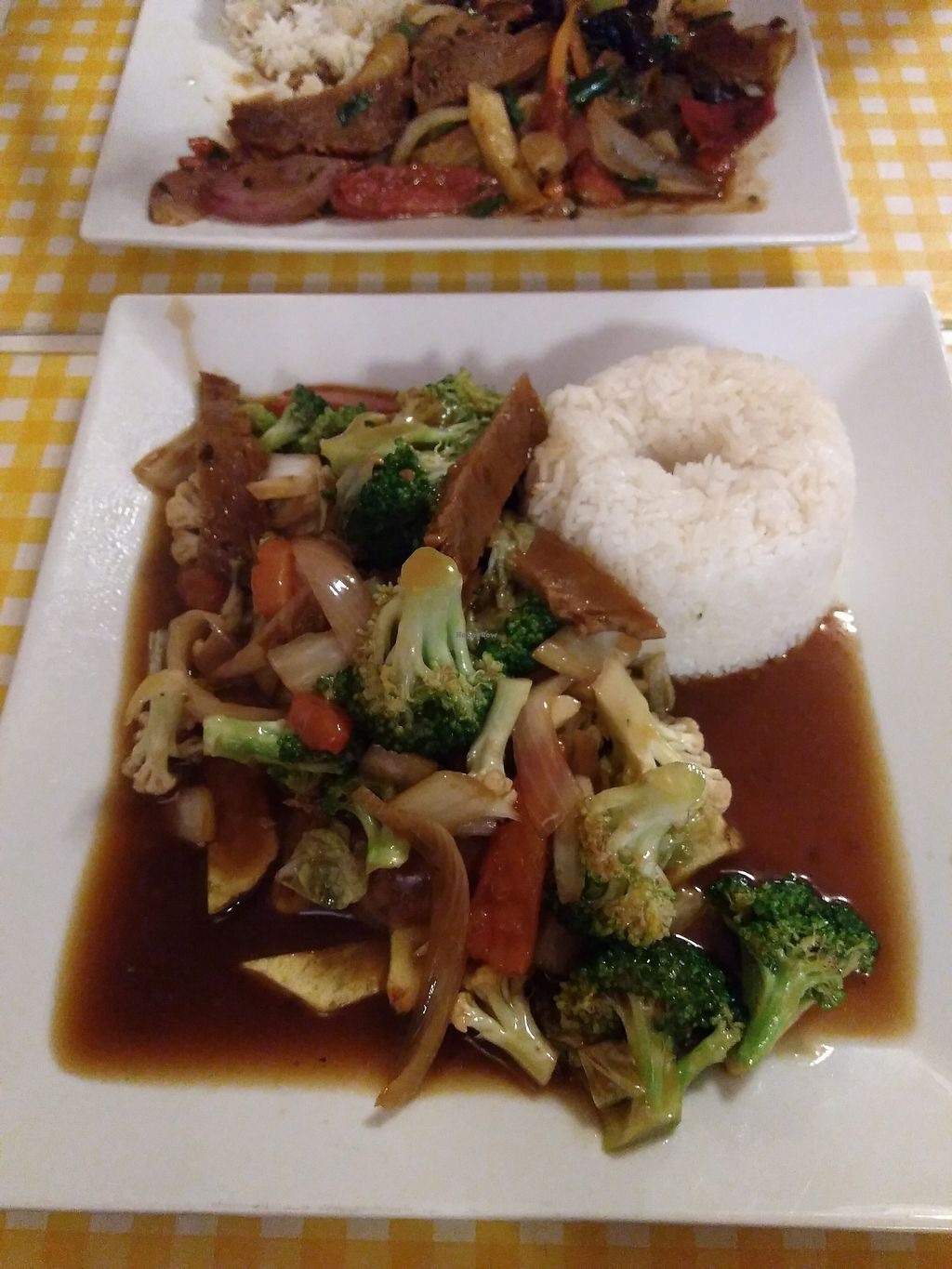 """Photo of Loving Hut  by <a href=""""/members/profile/emzie1983"""">emzie1983</a> <br/>Broccoli and seitan stir fry <br/> March 15, 2018  - <a href='/contact/abuse/image/52645/370814'>Report</a>"""