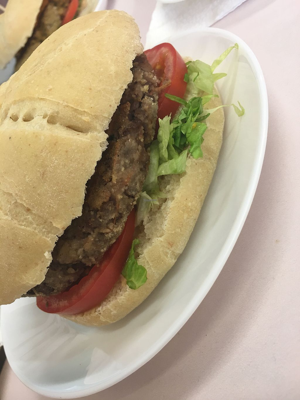 """Photo of K-Vegan  by <a href=""""/members/profile/kiiabby"""">kiiabby</a> <br/>Lentil burger  <br/> March 27, 2018  - <a href='/contact/abuse/image/52654/376804'>Report</a>"""