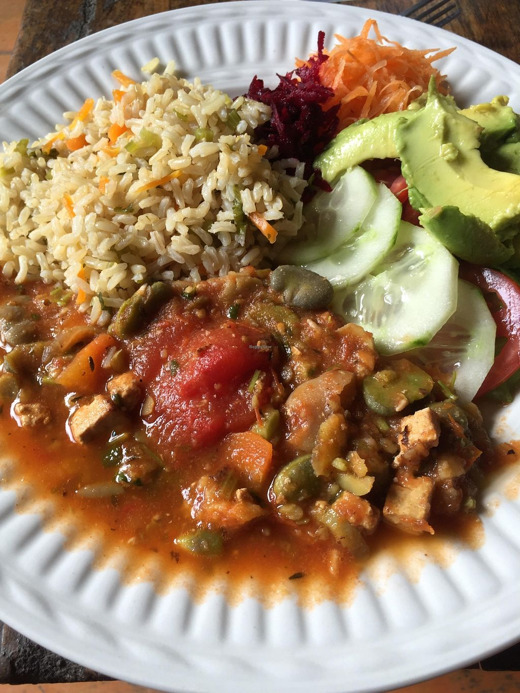 "Photo of La Paz  by <a href=""/members/profile/Emily%20Horne"">Emily Horne</a> <br/>Lima Bean Stew was plate of the day. Delicious! <br/> April 3, 2016  - <a href='/contact/abuse/image/52659/142493'>Report</a>"