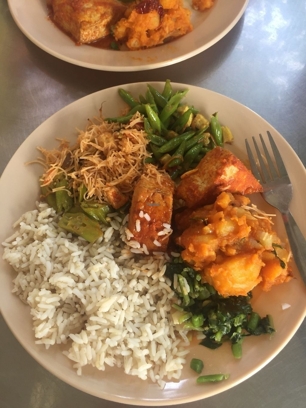 """Photo of Arati Vilas Banana Leaf Restaurant  by <a href=""""/members/profile/The%20London%20Vegan"""">The London Vegan</a> <br/>Delicious buffet style curries and veg  <br/> December 30, 2016  - <a href='/contact/abuse/image/52667/206065'>Report</a>"""