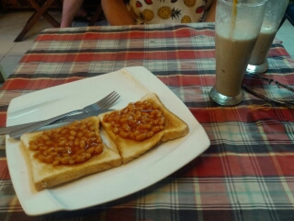 """Photo of Bookworm's Coffee  by <a href=""""/members/profile/Fairbridge"""">Fairbridge</a> <br/>beans on toast + soy milk banana shake  <br/> July 2, 2016  - <a href='/contact/abuse/image/52690/157270'>Report</a>"""
