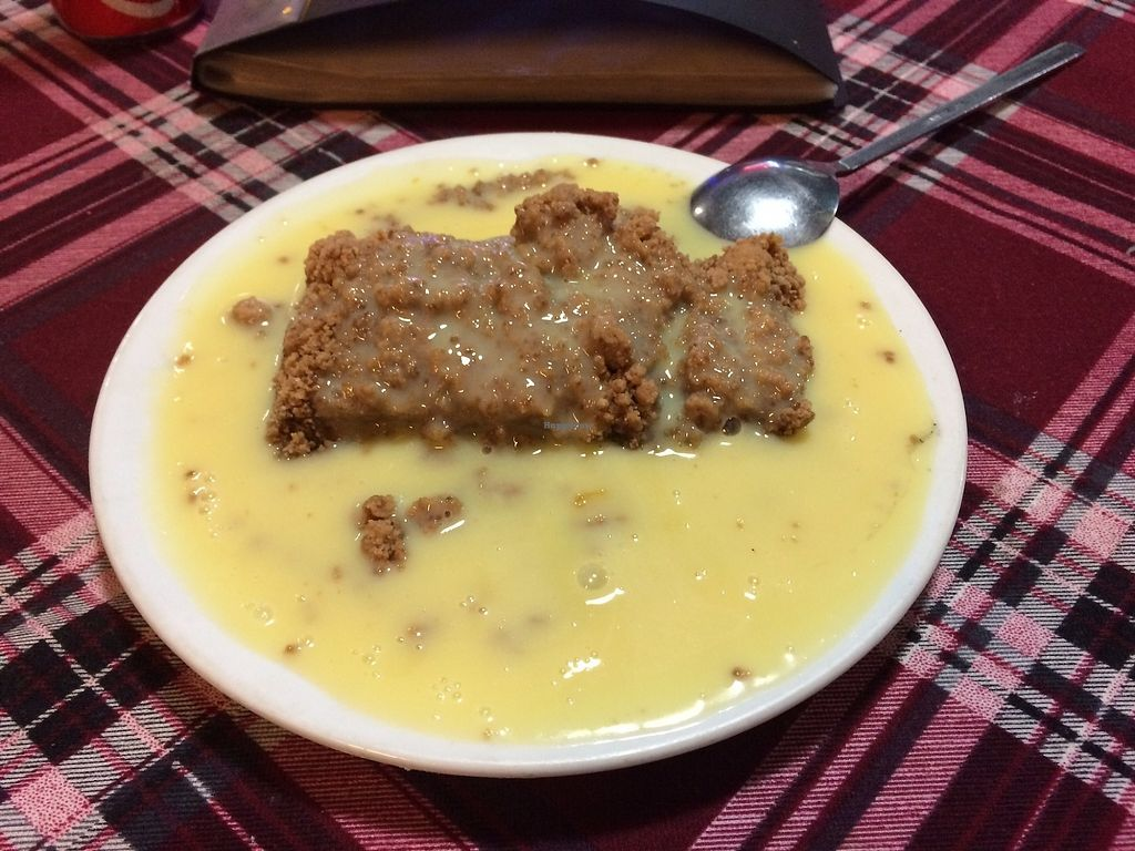 """Photo of Bookworm's Coffee  by <a href=""""/members/profile/Tim_nottingham"""">Tim_nottingham</a> <br/>Vegan apple crumble and vegan custard.  <br/> October 15, 2017  - <a href='/contact/abuse/image/52690/315471'>Report</a>"""
