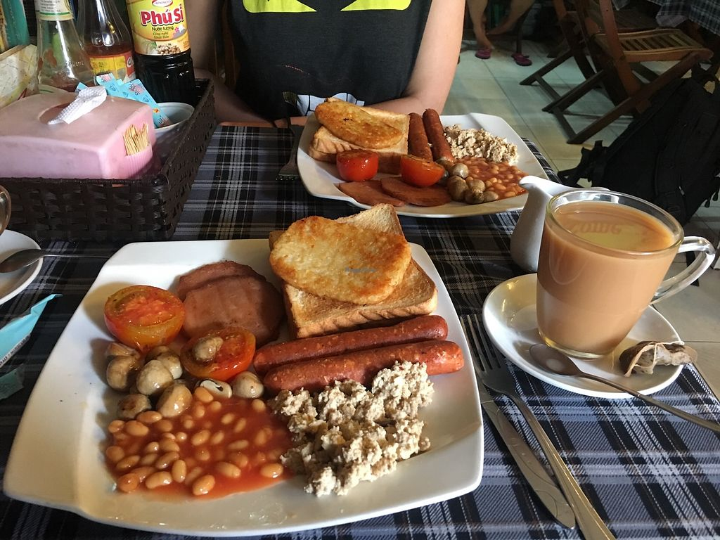 """Photo of Bookworm's Coffee  by <a href=""""/members/profile/MollyKennedy"""">MollyKennedy</a> <br/>Vegan full English breakfast!! <br/> January 21, 2018  - <a href='/contact/abuse/image/52690/349422'>Report</a>"""