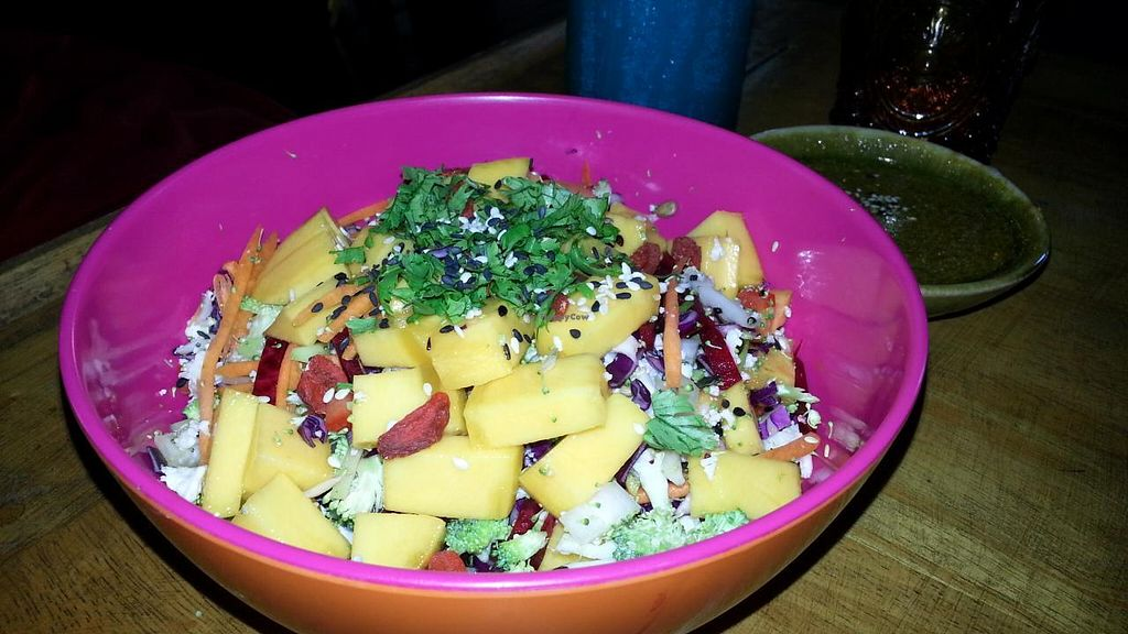"""Photo of The Yogarden  by <a href=""""/members/profile/eric"""">eric</a> <br/>chopped veggies and mango <br/> November 14, 2014  - <a href='/contact/abuse/image/52696/85564'>Report</a>"""