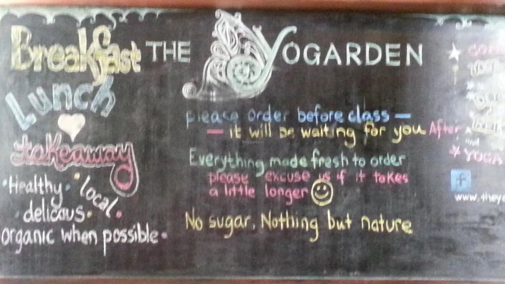 """Photo of The Yogarden  by <a href=""""/members/profile/eric"""">eric</a> <br/>menu board <br/> November 14, 2014  - <a href='/contact/abuse/image/52696/85566'>Report</a>"""