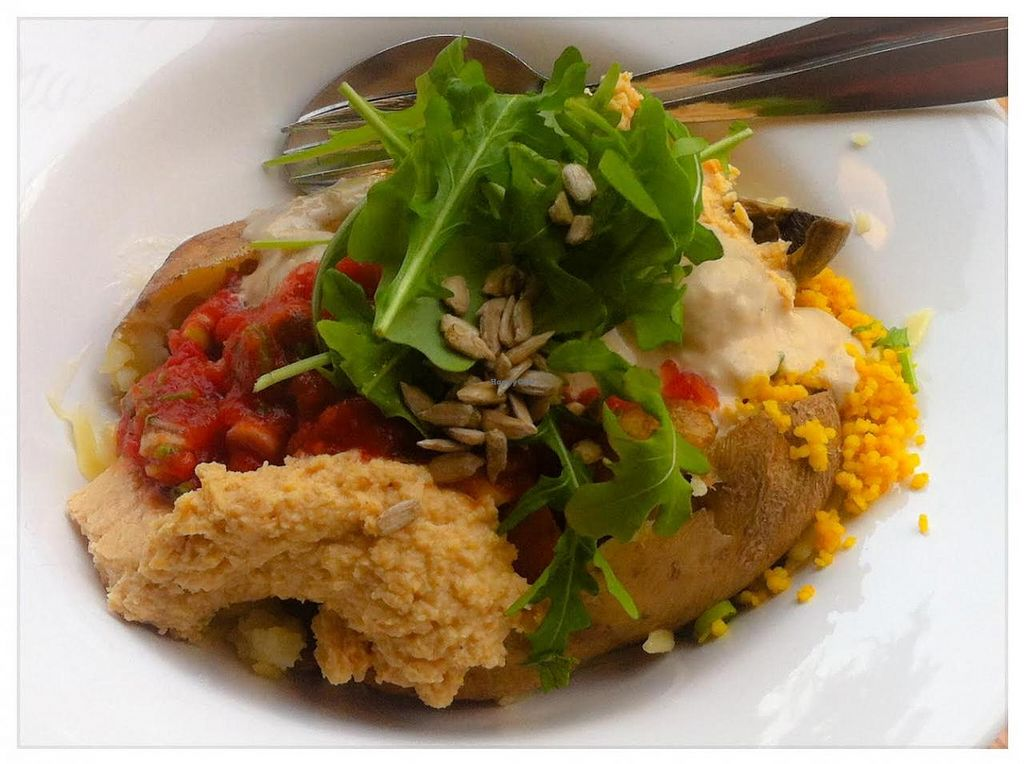 "Photo of Patiti Patati  by <a href=""/members/profile/Kat007"">Kat007</a> <br/>Kumpir with couscous, hummus, mushrooms, salsa, peanut sauce, rocket and sunflower seeds <br/> November 18, 2014  - <a href='/contact/abuse/image/52769/85963'>Report</a>"