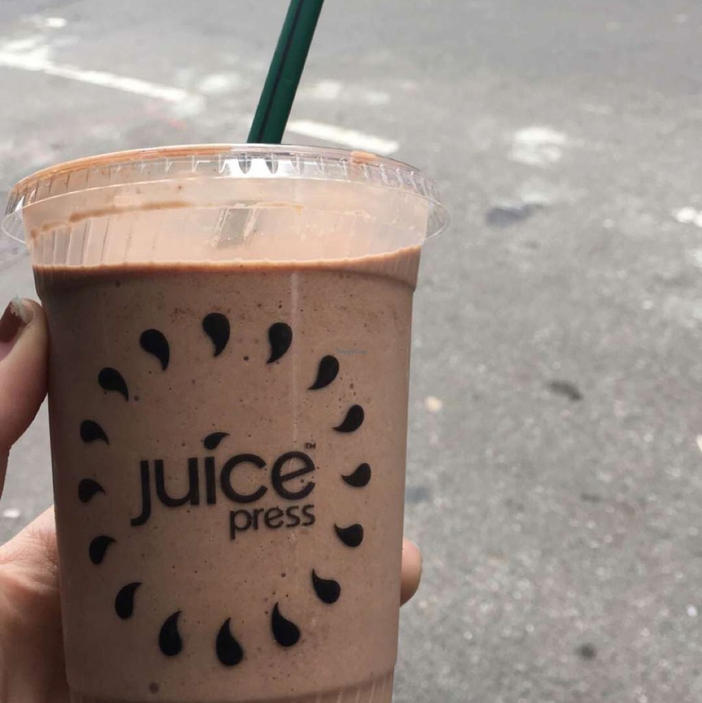 """Photo of Juice Press - 55th St  by <a href=""""/members/profile/njveg"""">njveg</a> <br/>tastes great <br/> June 22, 2016  - <a href='/contact/abuse/image/52777/155512'>Report</a>"""