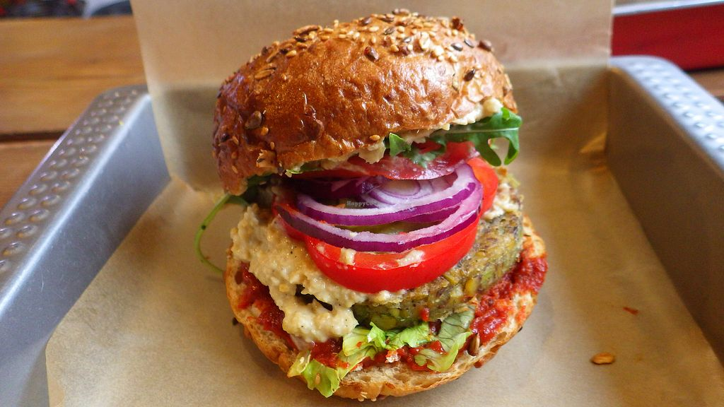 """Photo of Chwast Food  by <a href=""""/members/profile/deadpledge"""">deadpledge</a> <br/>Broadbean burger <br/> August 11, 2017  - <a href='/contact/abuse/image/52782/291493'>Report</a>"""