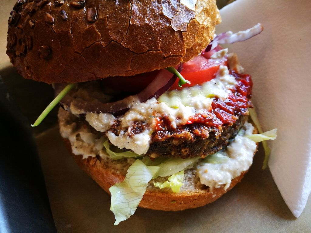 """Photo of Chwast Food  by <a href=""""/members/profile/k-girl80"""">k-girl80</a> <br/>Mushroom burger <br/> October 12, 2017  - <a href='/contact/abuse/image/52782/314476'>Report</a>"""