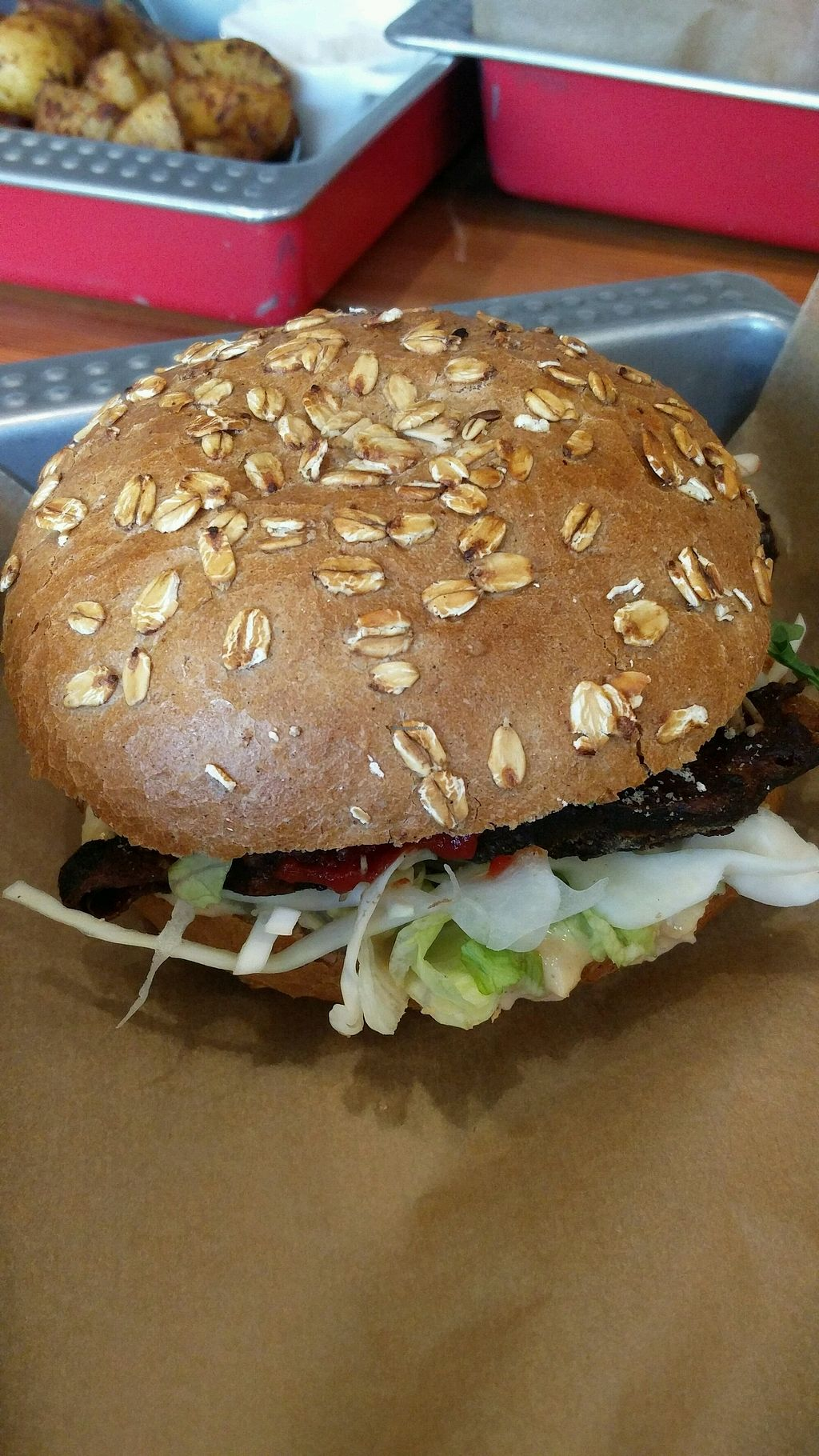 """Photo of Chwast Food  by <a href=""""/members/profile/Harp"""">Harp</a> <br/>Seitan hamburger <br/> November 4, 2017  - <a href='/contact/abuse/image/52782/321696'>Report</a>"""