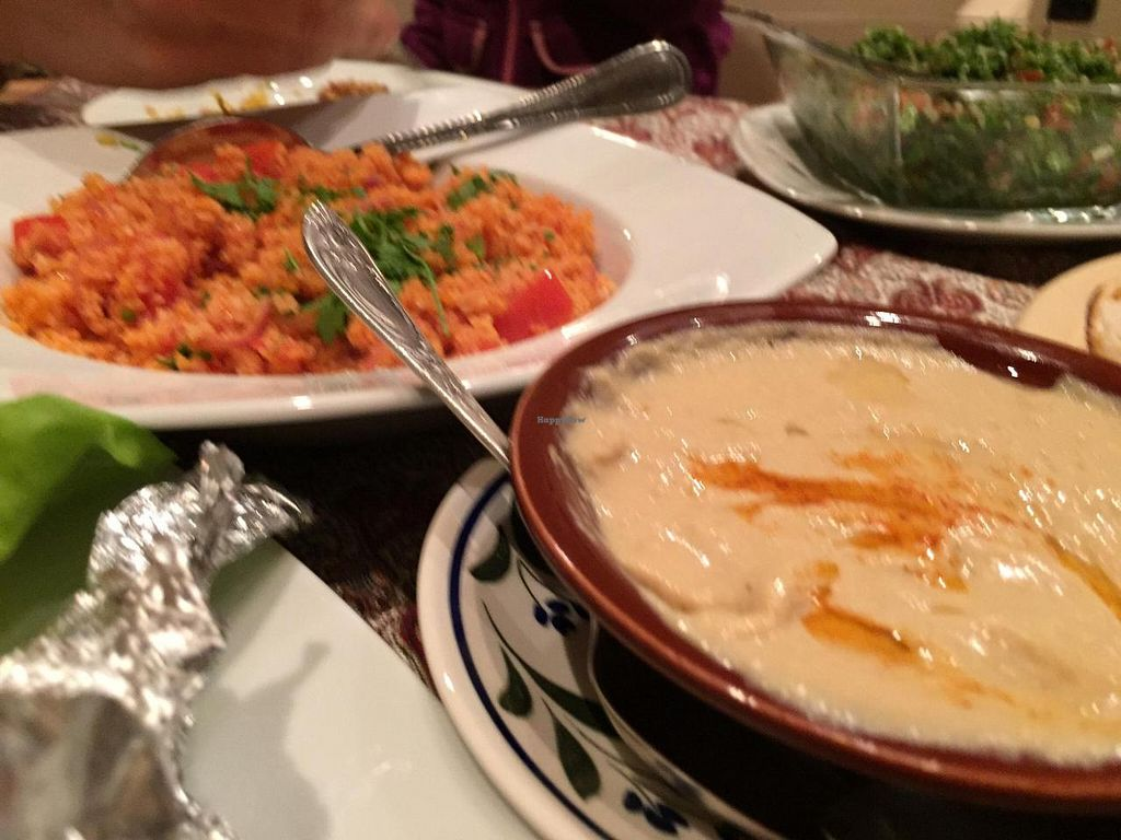 """Photo of Restaurant Taverna Libaneza  by <a href=""""/members/profile/monmart"""">monmart</a> <br/>Hummus and Rice <br/> November 5, 2014  - <a href='/contact/abuse/image/52784/84735'>Report</a>"""