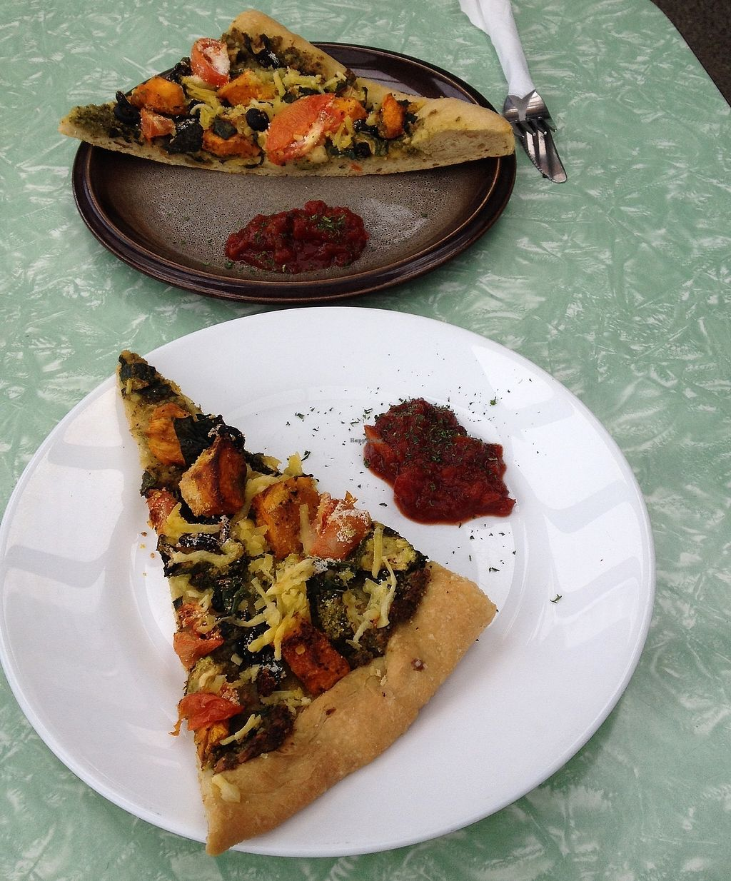 """Photo of Beat Street Cafe  by <a href=""""/members/profile/Gravenhale"""">Gravenhale</a> <br/>Vegan pizza <br/> September 2, 2017  - <a href='/contact/abuse/image/52800/299951'>Report</a>"""