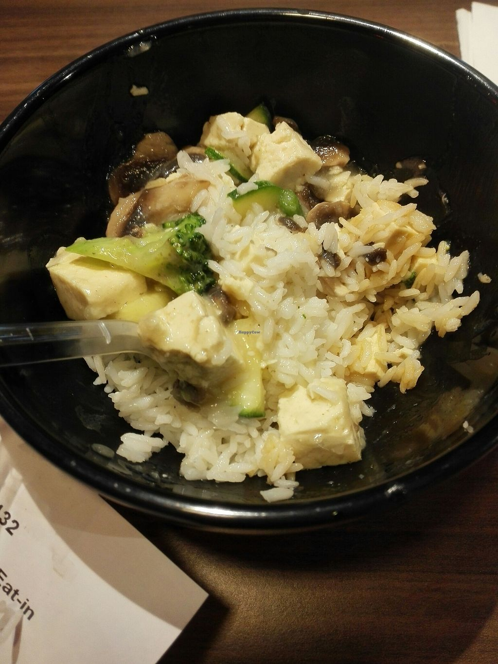 """Photo of Eazie - Herengracht  by <a href=""""/members/profile/Wooshy"""">Wooshy</a> <br/>Cooked rice, tofu, mushrooms, zucchini, broccoli and garlic sauce. Yum! <br/> July 23, 2017  - <a href='/contact/abuse/image/52810/283913'>Report</a>"""