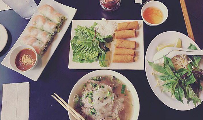 """Photo of Lemongrass  by <a href=""""/members/profile/KanaKauhane"""">KanaKauhane</a> <br/>Delicious...spring and summer rolls with rare beef pho <br/> August 20, 2017  - <a href='/contact/abuse/image/52826/294618'>Report</a>"""