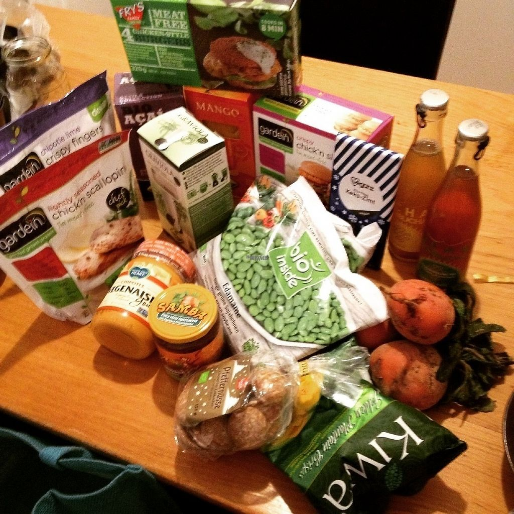 "Photo of CLOSED: Veganz - Leipzig  by <a href=""/members/profile/o0Carolyn0o"">o0Carolyn0o</a> <br/>All the goodies! Lots of Gardein, kombucha, organic edamame, frozen smoothie packs, chipotle mayo! <br/> November 21, 2016  - <a href='/contact/abuse/image/52828/192949'>Report</a>"