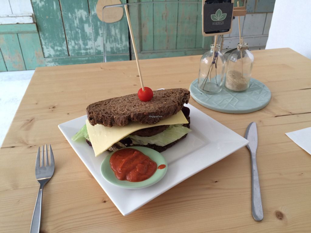 """Photo of Bio Bodega  by <a href=""""/members/profile/Marianne1967"""">Marianne1967</a> <br/>my yummie vegan burger <br/> August 12, 2015  - <a href='/contact/abuse/image/52831/113259'>Report</a>"""