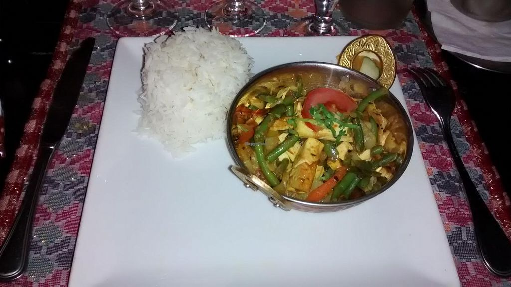 "Photo of Le Yeti  by <a href=""/members/profile/JonJon"">JonJon</a> <br/>Vegetables and fried tofu with rice and Nepalese sauces <br/> November 7, 2014  - <a href='/contact/abuse/image/52834/84933'>Report</a>"