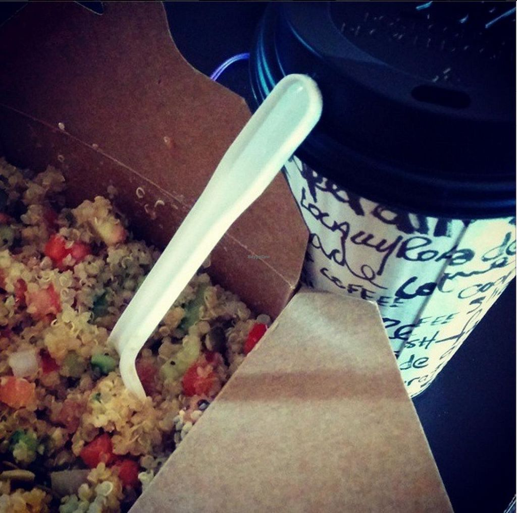"""Photo of gd2go  by <a href=""""/members/profile/Melinda_in_NB"""">Melinda_in_NB</a> <br/>Quinoa bowl and coconut latte. Yum! <br/> November 10, 2014  - <a href='/contact/abuse/image/52843/85174'>Report</a>"""