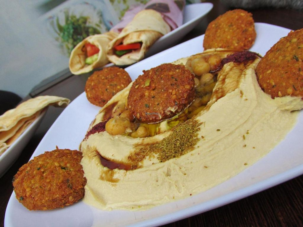 """Photo of CLOSED: Old Damascus  by <a href=""""/members/profile/michaljulien"""">michaljulien</a> <br/>The Hummus Falafel plate <br/> June 4, 2015  - <a href='/contact/abuse/image/52857/104803'>Report</a>"""