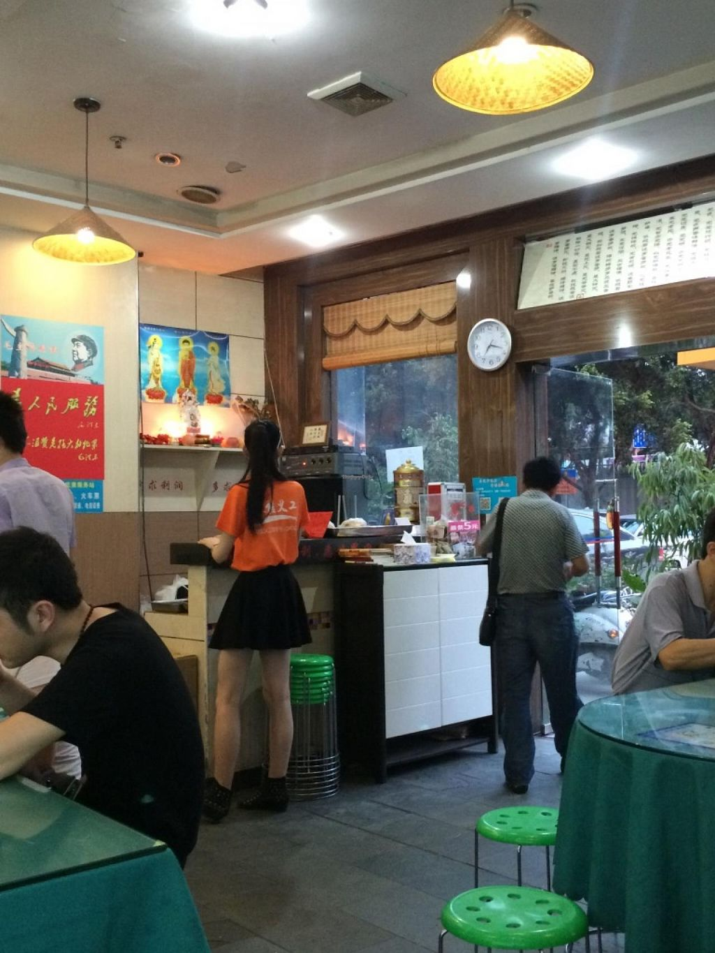 """Photo of Zao Chi Su Ba - Earlier Vegetarian  by <a href=""""/members/profile/AustinJardinera"""">AustinJardinera</a> <br/>The front desk. The box is where you put your 5 yuan. Less than a dollar, all you care to eat <br/> May 21, 2015  - <a href='/contact/abuse/image/52875/102938'>Report</a>"""